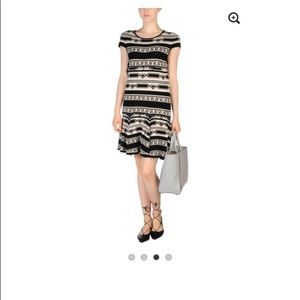 Alice + Olivia  geometric pattern  sweater dress
